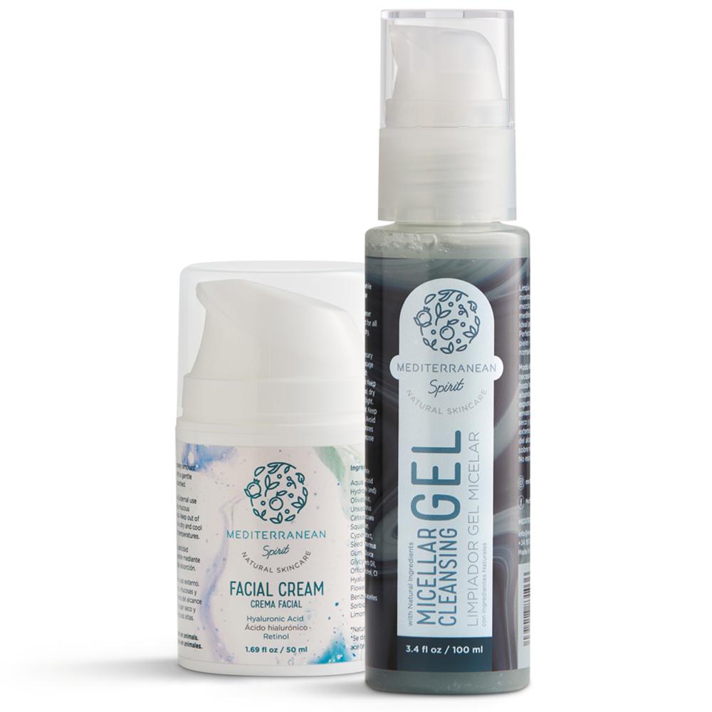 Jabón facial y crema hidratante